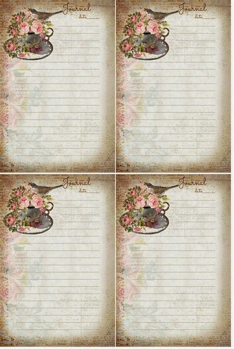free printable vintage journal pages 46 best images about journaling on pinterest vintage