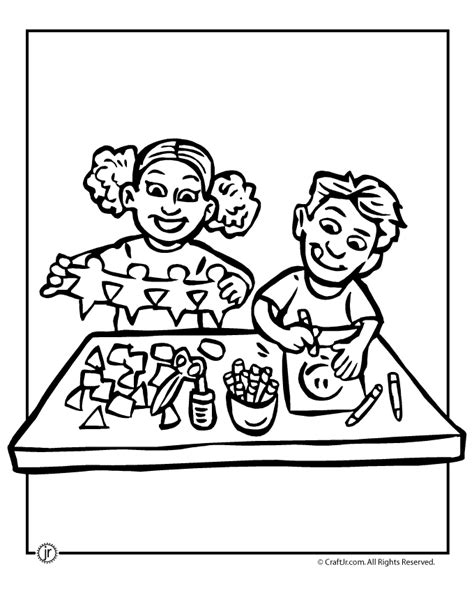 summer arts and crafts coloring pages sketch coloring page