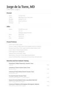 Surgeon Resume by Plastic Surgeon Resume Sles Visualcv Resume Sles Database