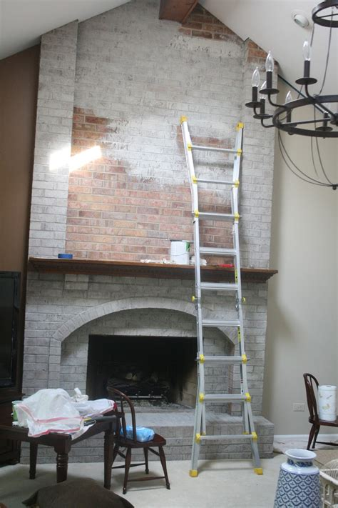 Monograms N Mud Whitewash Tutorial How To Remove Paint From Brick Fireplace