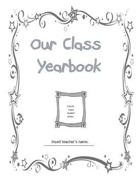 Year End Classroom Yearbook By Learn With Leigh Tpt Preschool Yearbook Templates