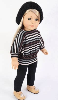 Striped Ribbed 1 2 Sleeved 1000 images about doll clothes on american