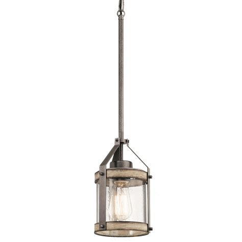 kichler pendant light fixtures shop kichler lighting barrington 5 5 in anvil iron and