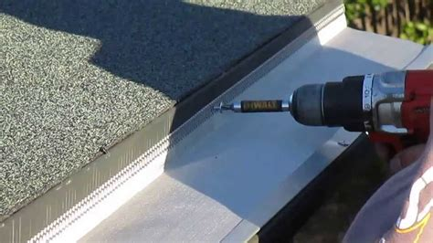 how to install gutter screens gutter guards on a flat