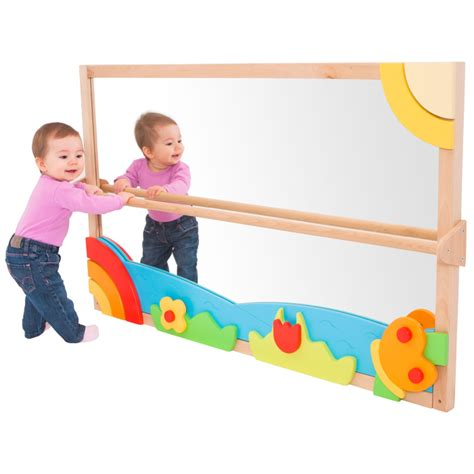 e4e large pull up play toddler mirror