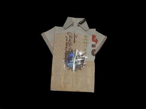 Pound Note Origami - how to make an origami note t shirt