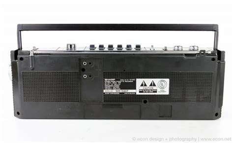 Ac Cassette Sharp mint vintage sharp qt27 mini stereo boombox radio cassette
