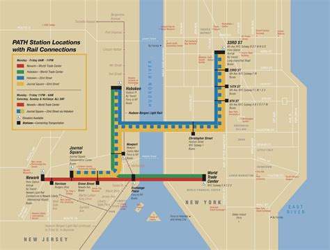 New York Path Map by Map Of Nyc Commuter Rail Stations Amp Lines