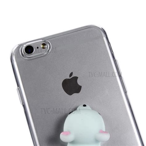 Iphone 6 6s 3d Silicone Black Tpu Acrylic Hardcase 82269 3d pinch silicone clear tpu squishy for