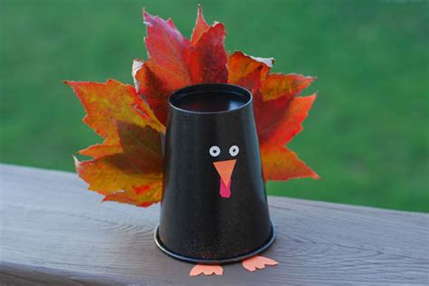 Paper Cup Turkey Craft - paper cup crafts car interior design