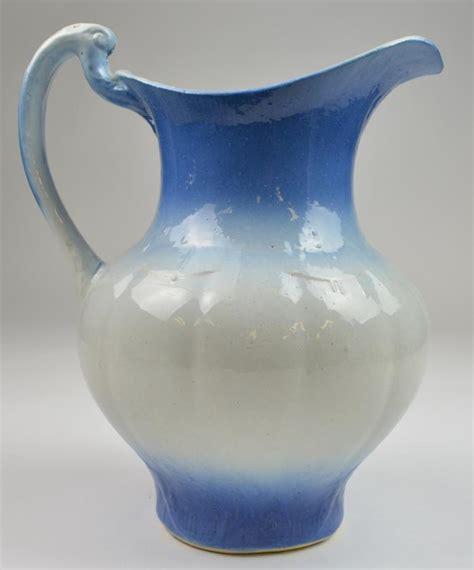 vintage handmade pitcher wash basin bush floral