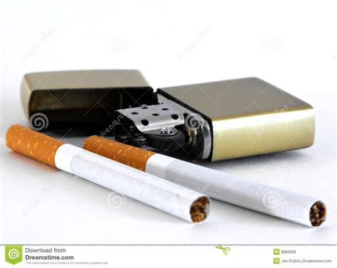How To Light A Cigarette Without A Lighter Or Matches by Cigarettes And Lighter Royalty Free Stock Photos Image