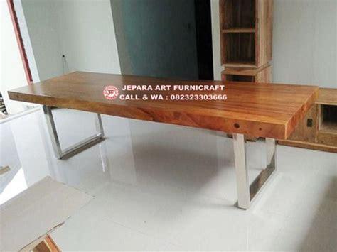 Meja Makan Stainless Steel jual murah meja makan solid kaki stainless 300 x 100