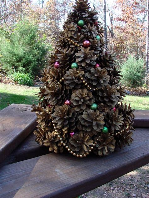 vintage 1962 handcrafted pine cone christmas tree