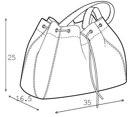 drawing bag pattern bag sewing pattern 3006 made to measure sewing pattern