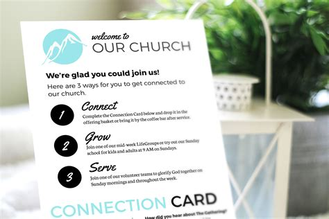 Our Card Template by Free Design Template Connection Card Churchly