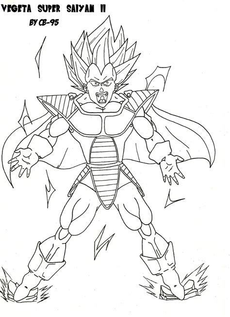 Vegeta Super Saiyan 2 With Saiyan Armur By Cb 95 On Deviantart