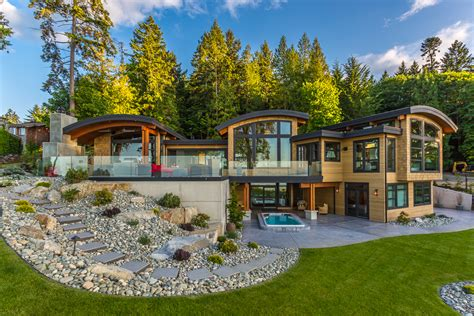oceanview house plans energy efficient luxury ocean view home on vancouver