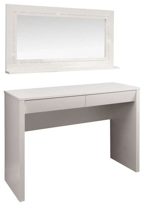 Starlight Dressing Table Desk And Mirror Modern Bedroom Modern Vanity Desk