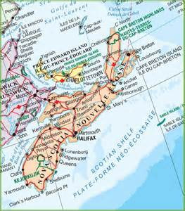 road map of canada with cities scotia national parks map