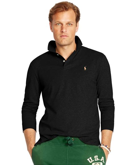Celana Softjeans Polos lyst polo ralph big and sleeved pima soft touch polo shirt in black for