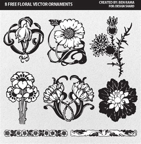 flower ornament vector free vector download 18 862 free