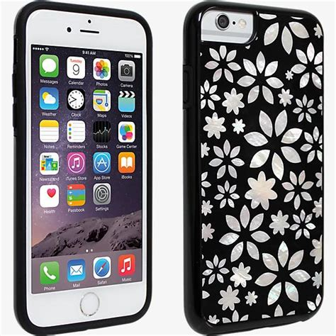 Casing Tiny Flower Soft Iphone 6 6s milk and honey black and white flower of pearl