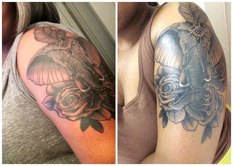 tattoo cover up that doesn t rub off elephant cover up tattoo ideas