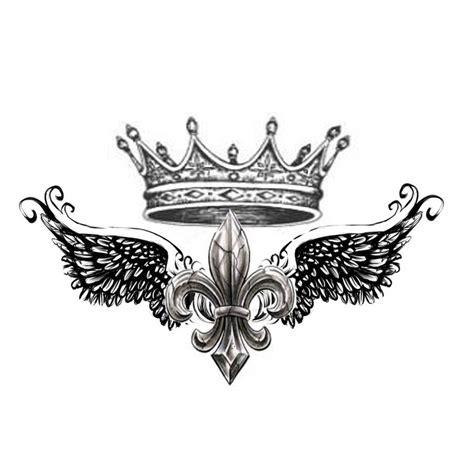 king crown tattoo design shoulder design of fleur de lis with crown by