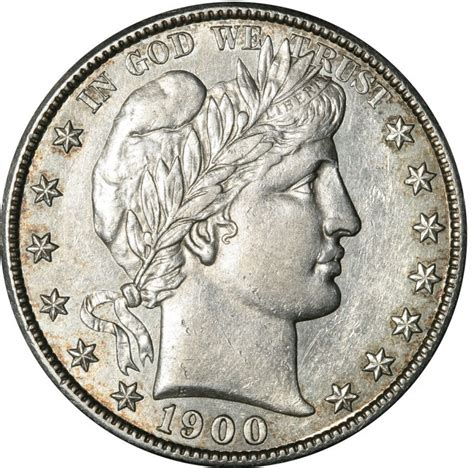 1900 barber half dollar values and prices past sales
