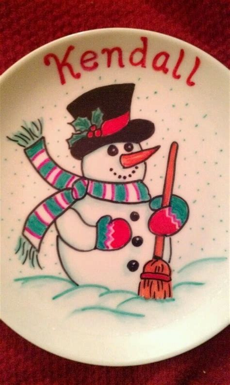 christmas sharpie plate craft ideas pinterest plates