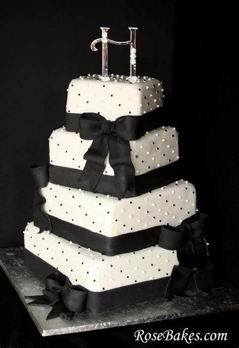 Black And White Wedding Cakes by Black White Wedding Cake