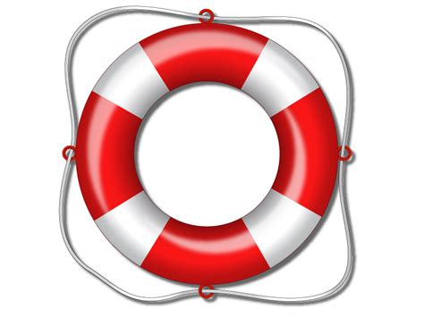 simple red and white lifesaver illustration in vector