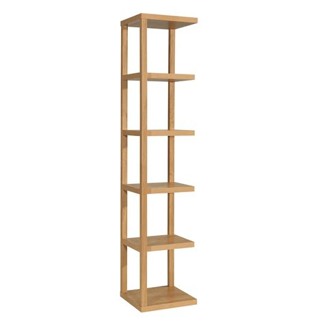 Thin Display Shelf Ontario Display Unit Oak Veneer Shelving Unit 5