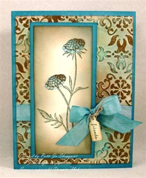 Handmade Folders - faux patina field flowers card paper vanilla marina