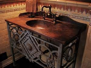 Custom Vanity Top With Integrated Sink Client Gallery Custom Copper Vanity Top W Integrated Sink
