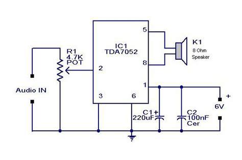 Rangkaian Speaker Aktif Mini rangkaian mini power lifier btl tda7052