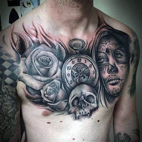 day of the dead skull tattoos for men 70 day of the dead tattoos for mexican designs