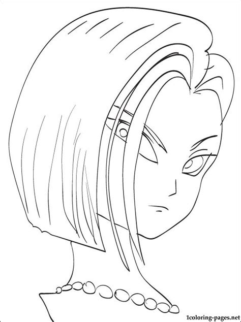 pages android android 18 coloring page coloring pages
