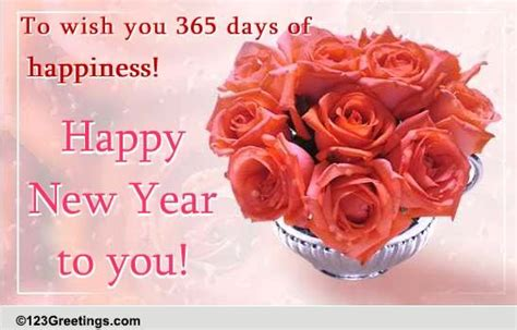 new year wishes with rose flowers new year wish with roses free flowers ecards greeting cards 123 greetings