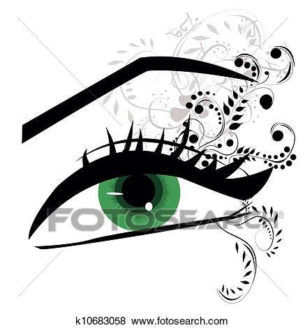 clipart occhi clip stilizzato fiore occhi k10683058 cerca