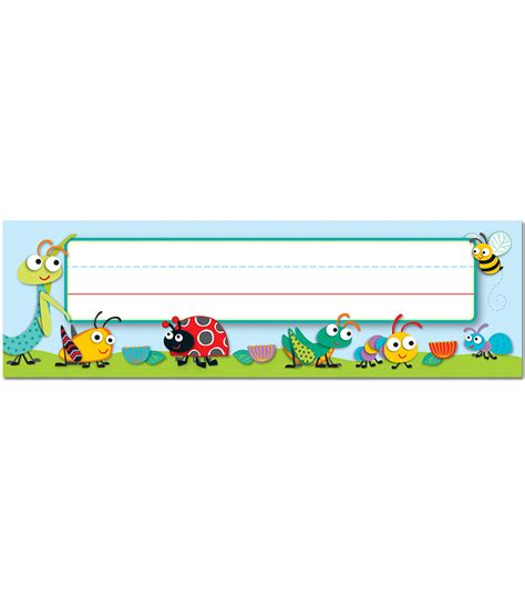 Buggy For Bugs Nameplates By Carson Dellosa Cd122118   buggy for bugs nameplates by carson dellosa cd122118