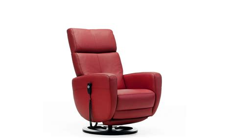 Targa Manual Swivel Recliner Chair In Leather All Reclining Swivel Chairs