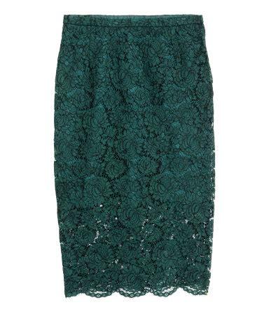 lace pencil skirt green sale h m us