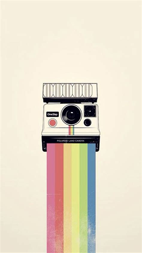 camera wallpaper iphone 4 polaroid camera colorful rainbow illustration iphone 6