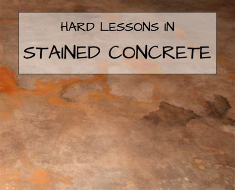 Concrete Floor Finishes Do It Yourself by Lessons In Stained Concrete Part One Restore The