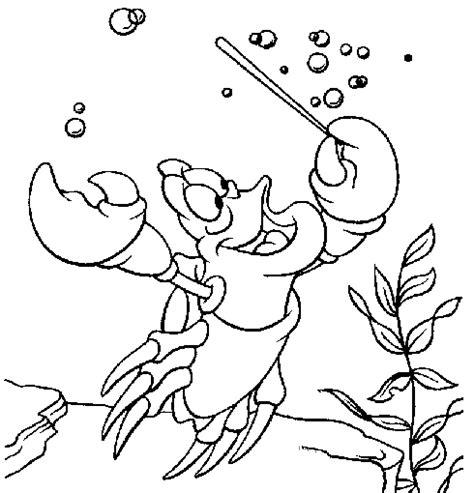 The Little Mermaid Ariel And Sebastian Coloring Pages Sebastian Coloring Pages