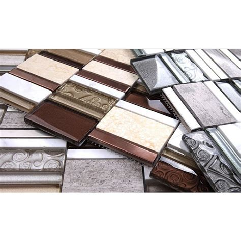Stone And Glass Mosaic Sheets Stainless Steel Backsplash Cheap Stainless Steel Backsplash