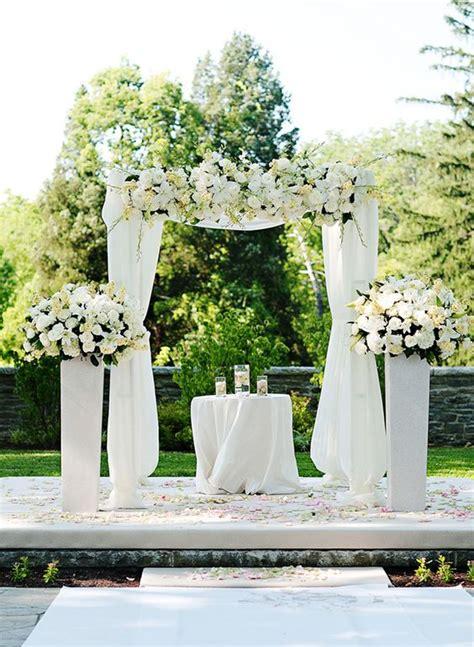 Wedding Arch White by All White White Weddings And Wedding Ideas On