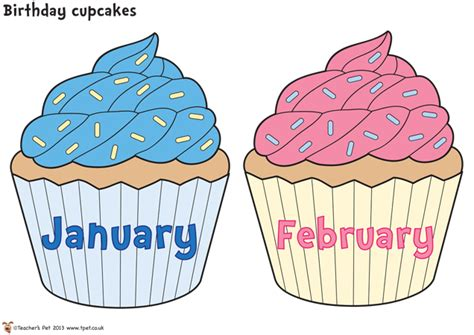 6 best images of free printable birthday chart cupcake